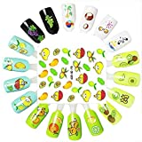 Nail Art Stickers!Elevin(TM) The New Fashion Fruit Seris Nail Tips Decorations Cute Hot stamping 3D Nail Art Stickers Decals (A)