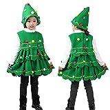 Bebé Niños Navidad Rendimiento Traje de Arbol de Navidad por MYQyiyi (3 años, Verde)