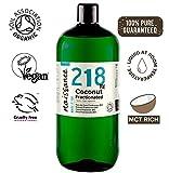Naissance Olio di Cocco Frazionato Certificato biologico 1L - puro al 100%, Vegano, senza OGM, Idratante per la Pelle e i Capelli
