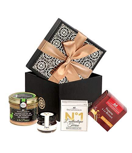 Ducs de Gascogne - Petit cadeau gourmand Délicate attention - comprend 1 gourmandise de bloc de foie gras et 3 produits d'épicerie fine - Idéal 1 pers. - 944716