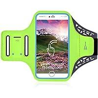 iPhone 8/8plus movimiento brazalete, huella digital Touch apoyo gimnasio correr entrenamiento/ejercicio brazo banda Funda para iPhone 6/6S/7/7Plus/8/8pluswith clave/titular de la tarjeta, verde