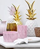 Pineapple, Deco., White/Gold Ø9xH24 cm - 2