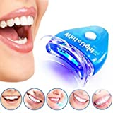 Zagmagat Tooth Polisher Whitener Stain Remover with LED Light Luma Smile Rubber Cups
