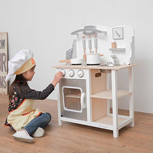 New Classic Toys - 11053 - Jeu D'imitation - Cuisine - Bon Appetit - Blanche/Argent