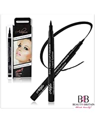 2 x LUXURY SMOOTH LIQUID BLACK EYELINER PENS WATERPROOF SMUDGE PROOF FROM UK