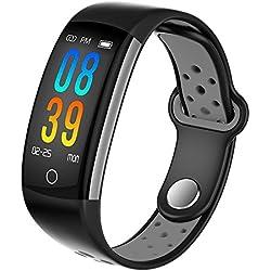 Intelligentes Armband des Farbschirms Sportmänner und -frauen, die Schlaf-Blutdruck-Herzfrequenz-Uhr wasserdichtes laufendes gesundes Pedometer überwachen Android / ios 3 Farbe wahlweise freigestellt