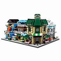 12che 1079Pcs Bricks City Toy Coffee Shop Pet Shop Building Set Compatible with 100% Building Block Brands