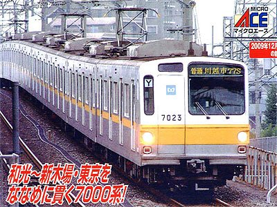 Tokyo Metro Series 7000 Late Type w/Cooler (Basic 6-Car Set) (Model Train)