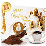 C&T XL Adventskalender mit hochwertigem Kaffee 'Klassik II' (Gold, Gemahlen) 2019 - 24 Päcken à 25 g Kaffee aus Aller Welt - Weihnachts-Kalender mit kostenloser Infobroschüre