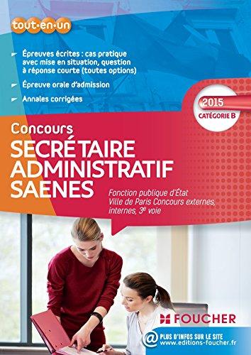 Secrétaire administratif SAENES Catégorie B. Fonction publique d'état Ville de Paris concours 2015