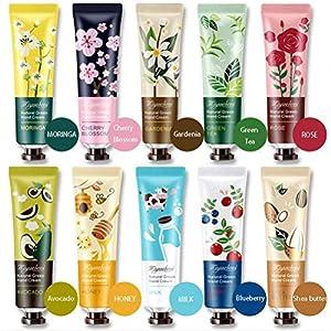 Crema de manos, 10pcs / set Mini crema de manos Crema hidratante nutritiva para el cuidado de las manos para hombres…