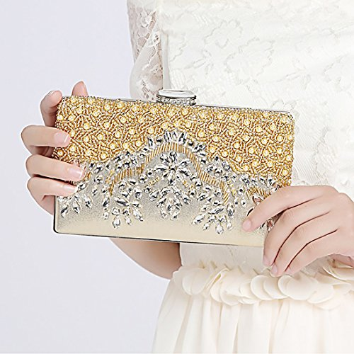 Ht Evening Clutches Bags Poschette Giorno Donna Yellow