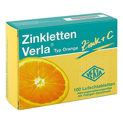 Zinkletten Verla Typ Orange, 100 St. Lutschtabletten