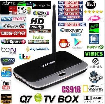 "Quad-Core-Android 4.2 TV Box (MINI PC) ""ATV"" mit 1,8 GHz CPU, 2GB RAM, Full-HD-Ausgang, HDMI DLNA WIFI 8GB HI718"