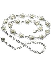 cbf530c86dba AMOYER Cadena de la cintura las señoras con el collar de la joyería de la danza  de vientre de la perla con incrustaciones…