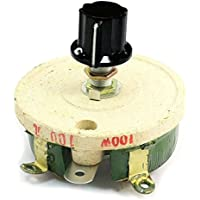 Reostato de alambre bobinado - SODIAL(R) 100W 100 Ohm Reostato resistencia rotatoria potenciometro de alambre bobinado ceramico