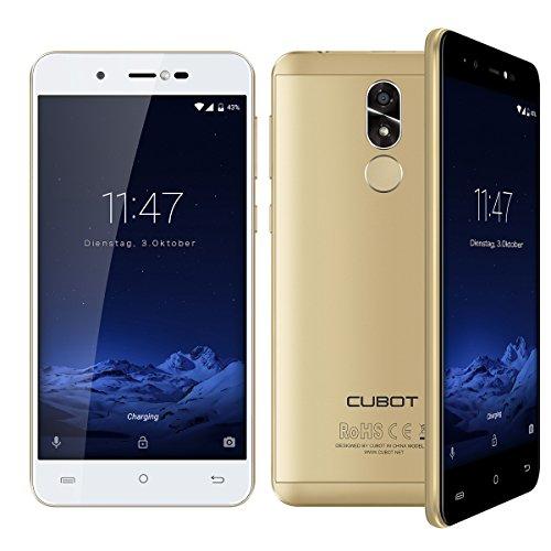 Cubot R9 (2017) Andriod 7.0 Nougat Smartphone 2GB RAM, 5.0 Inch Touch-Display Handy Ohne Vertrag mit Fingerprintsensor, Micro-Sim und Nano-Sim (Gold)