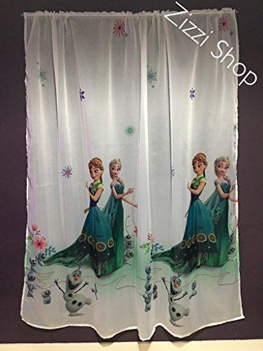 Licenza ufficiale del fumetto tenda in voile con pieghe tape- frozen 2- 150cm larghezza x 155cm goccia
