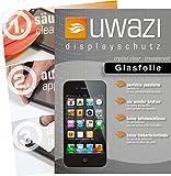 uwazi Apple iPhone 4 / 4S Semi Glasfolie - gehärtete Schutzfolie mit Spezialbeschichtung gegen Fingerabdrücke