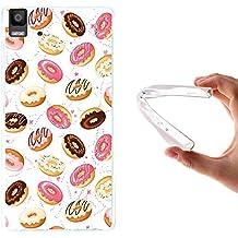 WoowCase - Funda Gel Flexible { bq Aquaris E5 4G } Donuts Carcasa Case Silicona TPU Suave