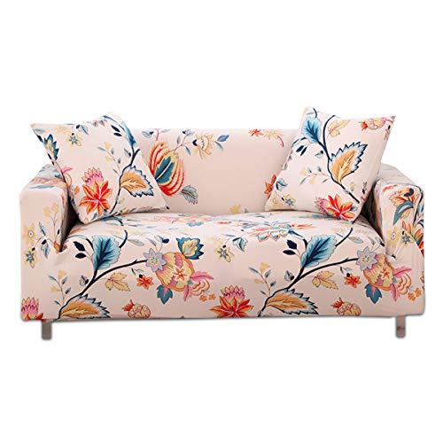 Fashion·life copridivano 3 posti sofa salotto protettorefodera per divano con stampa di fiori elastico copridivano all-inclusive,rosa