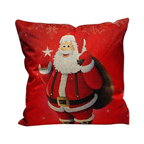 Cubierta de almohadilla, Lanowo Confortable sofá de la Navidad Decoración del hogar Festival Funda de cojín almohada para el lugar en el sofá, cafetería, biblioteca, Bbook tienda, fiesta, Club Red