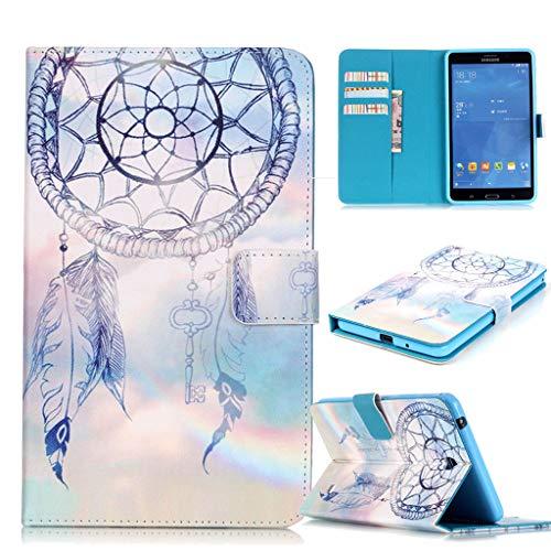 Careynoce Galaxy Tab 4 7.0 Hülle,Rotes Meer PU Leder Abdeckung Stand Flip Schutzhülle Hülle - mit Automatischem Schlaf Funktion Und Wach Funktion für Samsung Galaxy Tab 4 7.0