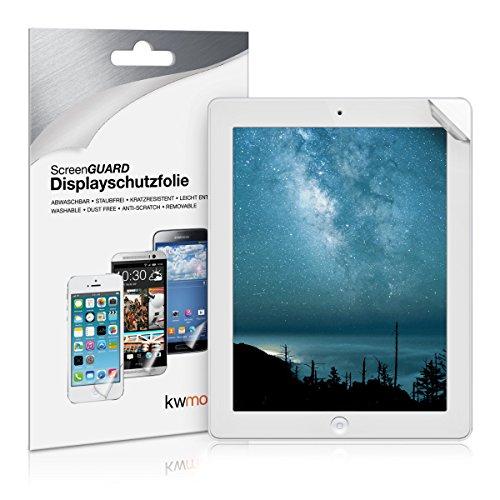 kwmobile Apple iPad 2/3 / 4 Folie - Full Screen Tablet Schutzfolie für Apple iPad 2/3 / 4 entspiegelt