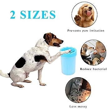 Pet Brosse De Nettoyage Tasse Chien nettoyeur de pieds Portable Chien Patte Cleaner,L