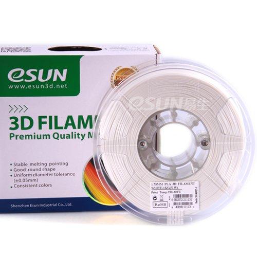 Preisvergleich Produktbild eSun 3D Filament - PLA+,  1kg / 3.00mm - Weiß (white),  Druck Tempe. 190-210 Grad C,  Universal für 3D Drucker z.B. MakerBot RepRap MakerGear Ultimaker Mendel Huxlep UP Thing-o-matic
