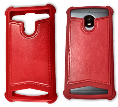 BKDT Marketing Rubber and Leather Soft Back Cover for Gionee Ctrl V4S- Red  available at amazon for Rs.349