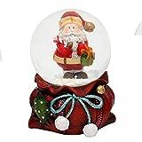 Weihnachtssack in rot mit Schneekugel, Maße H/B/Ø Kugel: ca. 7 x 5 cm/ Ø 4,5 cm.