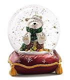 NICI 27665-Bola de Nieve, Tamaño Grande, Diseño de Oso Polar, Color Rojo
