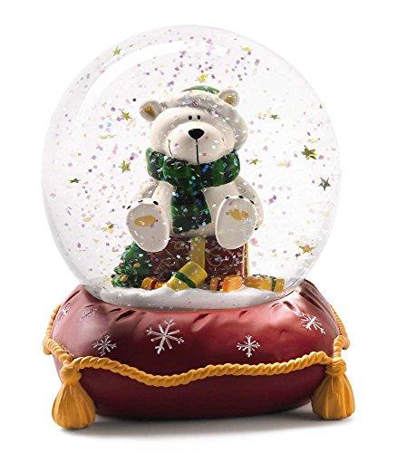 NICI 27665–Bola de nieve grande con oso polar rojo