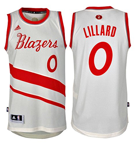 Adidas NBA Basketball X-Mas Edition Portland Trail Blazers Swingman Jersey Nr. 0 LILLARD_AT1485
