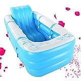 Doppel große aufblasbare Badewanne Erwachsene kann sitzen hinlegen kann gefaltet werden (Color : Blue)