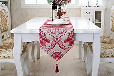 ADDMAT® Tischläufer Europäische Tischfahne Hochwertige Stoff Pflanze Blumen moderne Nachttischdecke , (Blumen Plastiktischdecke)
