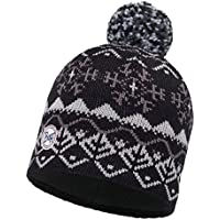 Original Buff - Knitted & Polar Hat Solid Unisex Adulto, talla unica, color Vail Black/Black