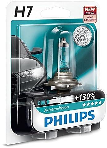 AMPOULE DE PHARE AVANT ORIGINE PHILIPS XTREME VISION +130 H7 (1PC) 12972XV + B1