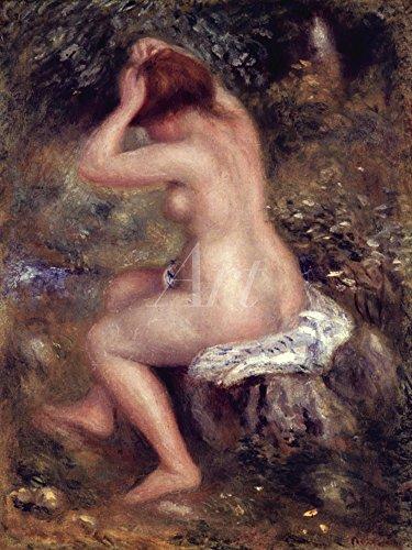 Artland Alte Meister selbstklebendes Wandbild Pierre-Auguste Renoir Bilder 60 x 45 cm Der Badegast 1887 Kunstdruck Wandtattoo Impressionismus C2QW