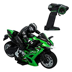 ColorBaby- Moto Radiocontrol Speed&Go Escala 1:10, Color Verde (85341)