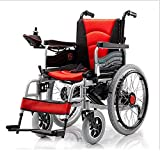 AA100 Four-wheel folding electric smart wheelchair for the elderly disabled persons climb climbing without slipping function electric wheelchair (manual/automatic switchable)