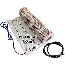 EXTHERM - Alfombra de Radiador de Doble Cable, Area de 1m²  - Potencia de Calefacción de Suelo de 200 W/m² - Confort Térmico en su Hogar - Soluciones de Energía Renovable