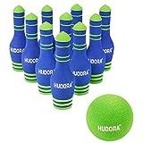 HUDORA Soft Bowling Set 10 Pins und 1 Kugel Kegeln