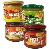 Poco Loco - Dip Set - 4 x Dip - Nacho und Tortilla Chips Dip - Geschenkset