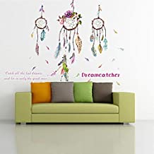 ufengke home Atrapasueños Vinilos Decorativos con Atrapasueños Coloridos y Adhesivo Vinilo Decorativo Pared Letras Grande Calcomanías