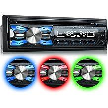 XOMAX XM-CDB619 Autoradio con lettore CD + Bluetooth Vivavoce +