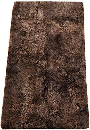 generisch LAMMFELL Teppich Chestnut CA. 190 x 110 cm Fell Teppich BRAUN AUS 4 Island LAMMFELLEN -