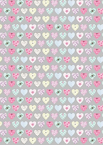 2-sheets-silver-floral-patterned-hearts-wrapping-paper-1-matching-gift-tag