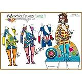 Colección Fantasy Long. Recortables. Recortar y vestir personajes: para payasos, deportistas, vestidos de noche, de fiesta, skate, love, etc.